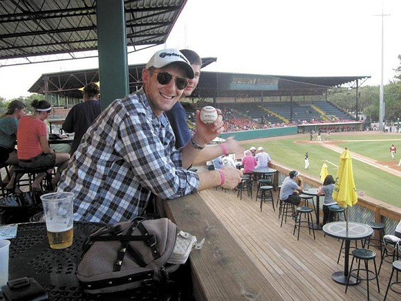 The late Matt Kohler enjoying a Sand Gnats game, one of his favorite pastimes.