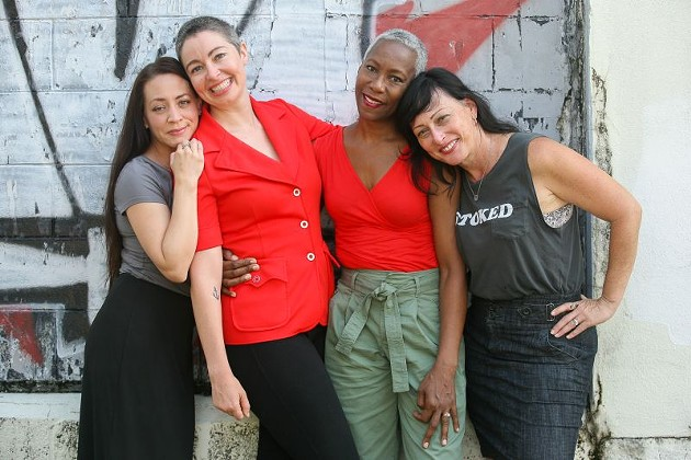 Danielle Shaw, Brianne Halverson, Omkari Williams, and Jessica Leigh Lebos, among others, will share stories and laughs at Women Rule. 100 percent of ticket sales will be donated to Planned Parenthood Southeast Advocates. - PHOTO BY JON WAITS   @JWAITSPHOTO