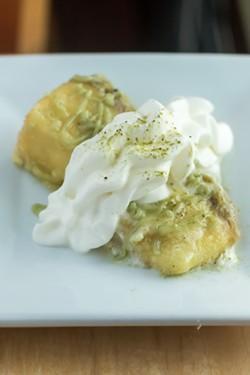 The tempura cheesecake.