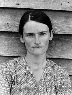 """""""Tenant Famer's Wife, Alabama,"""" Evans, 1936."""