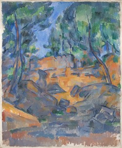 "Paul Cezanne, ""Trees and Rocks near the Chateau Noir."""