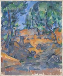 "Paul Cezanne, ""Trees and Rocks near the Chateau Noir."""