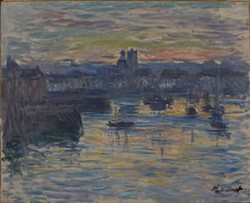 "Claude Monet, ""Port of Dieppe, Evening."""