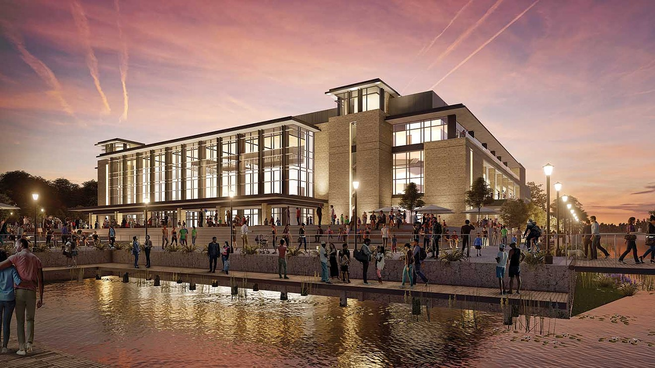 A rendering of the new Oak View Group-Savannah Arena shows details of the structure to be built in the Canal District.