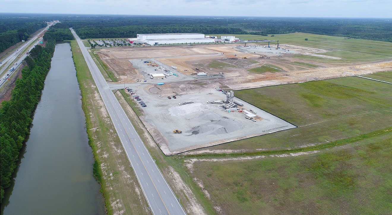 The site of the new Amazon fulfillment center is shown  as the company expands their presence in Georgia.
