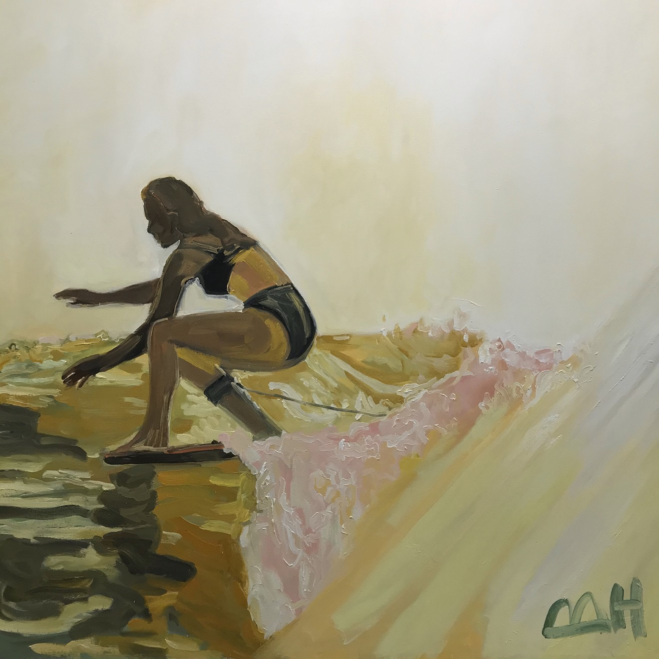 Painting by Maggie Hayes, 4ft x 4ft oil on canvas.