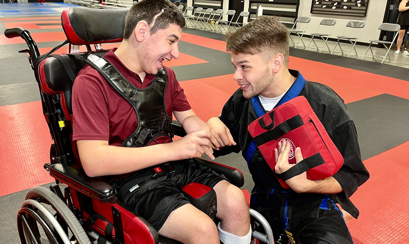 Maddux Davis and Matthew Sangiorge at Pooler Karate Krav Maga