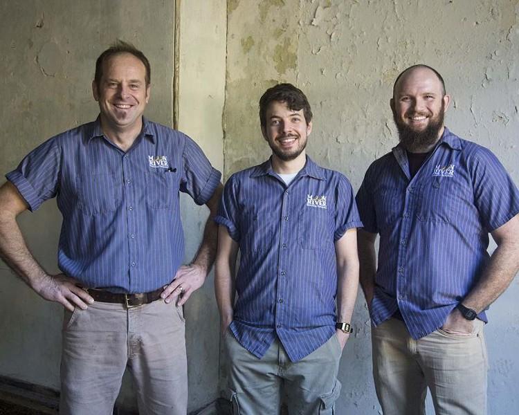 Brewers John Pinkerton, Justin Carapella and Mike Livings.
