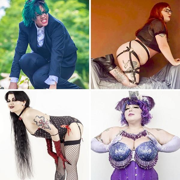 Clockwise from top left: Flux Inqueerior, Meow Mx, Rita D'La Vane, and Memento Mary.