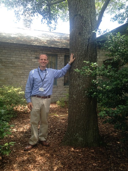 "City of Savannah Park & Tree Director Gordon Denney takes a ""glass half full"" attitude to managing the aging tree canopy."