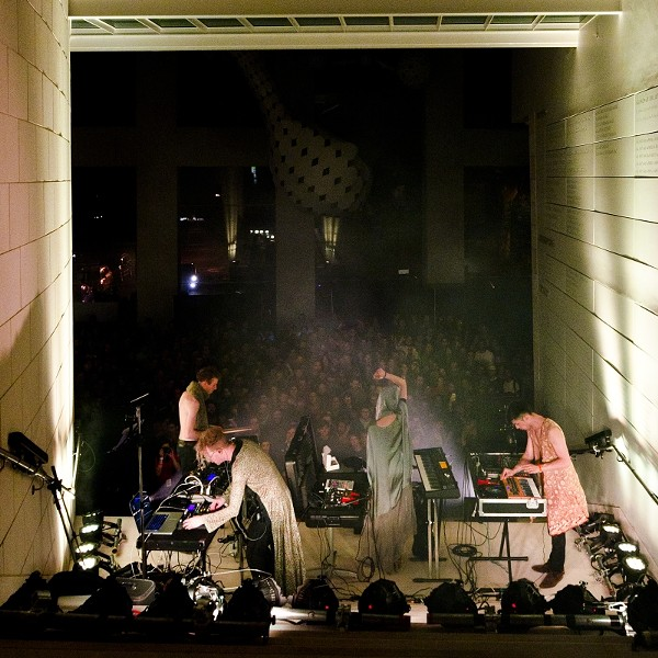 Savannah Stopover (here, Grimes at the Jepson Center) provides some great under-21 shows. - GEOFF L. JOHNSON