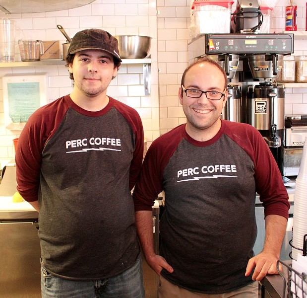 Powell (right), cafe manager, has indicated that he and brother Zach (left), sous chef from Jazz'd Tapas Bar, have plans to expand Mirabelle's waffle repertoire very soon.