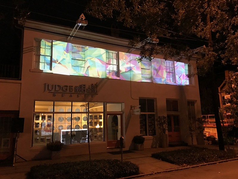 The block lights up every evening from 7-9 p.m. through Dec. 28.