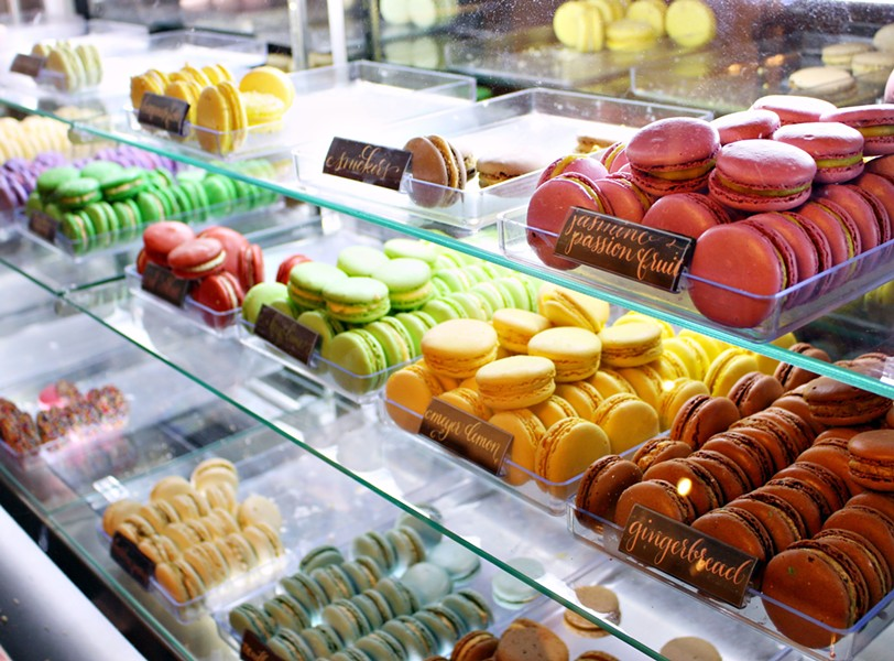 At Marché de Macarons, customers can find a collection of macarons sporting vibrant colors with playful flavors.