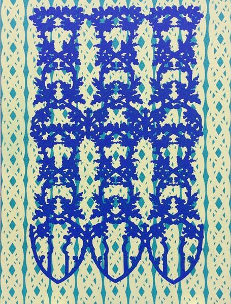 Blue Gate, oil