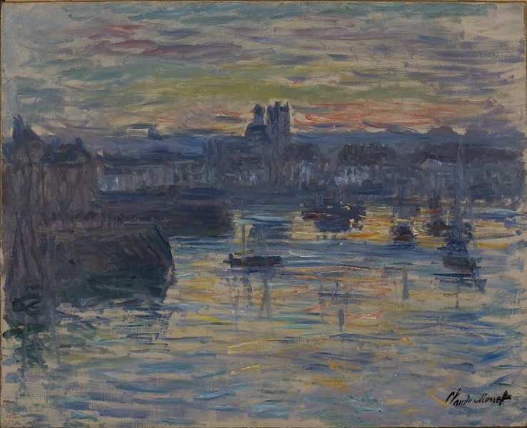 "Claude Monet, ""Port of Dieppe, Evening."""