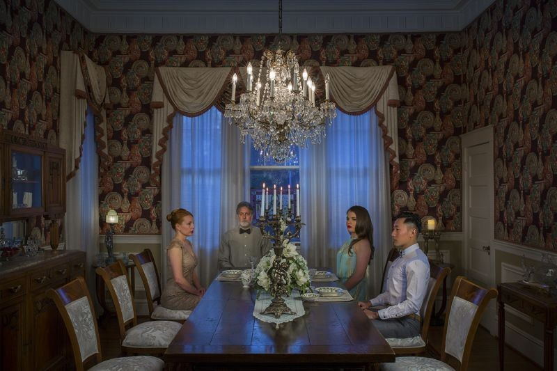 'Candle Dinner' from Feng's The American Dream series.