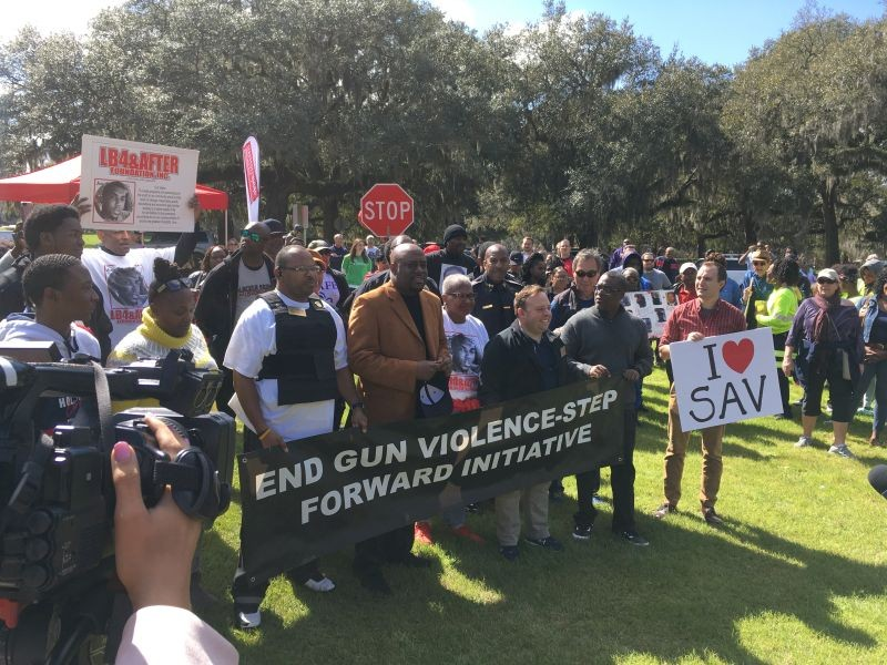 This past Saturday's successful Love March to End Gun Violence in Daffin Park, attended by Mayor Johnson and nearly all of Council, will hopefully help heal the already fractured group. - PHOTO BY JIM MOREKIS