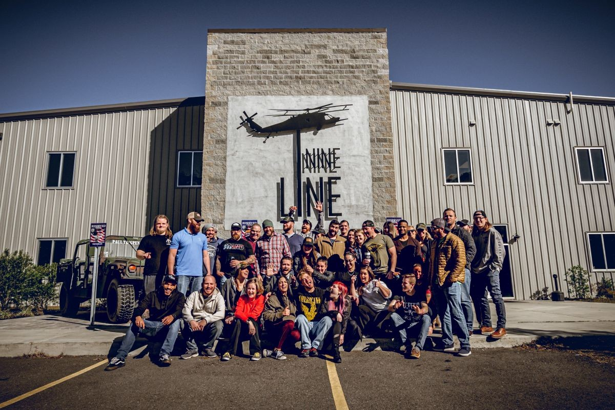 Nine Line store and staff.