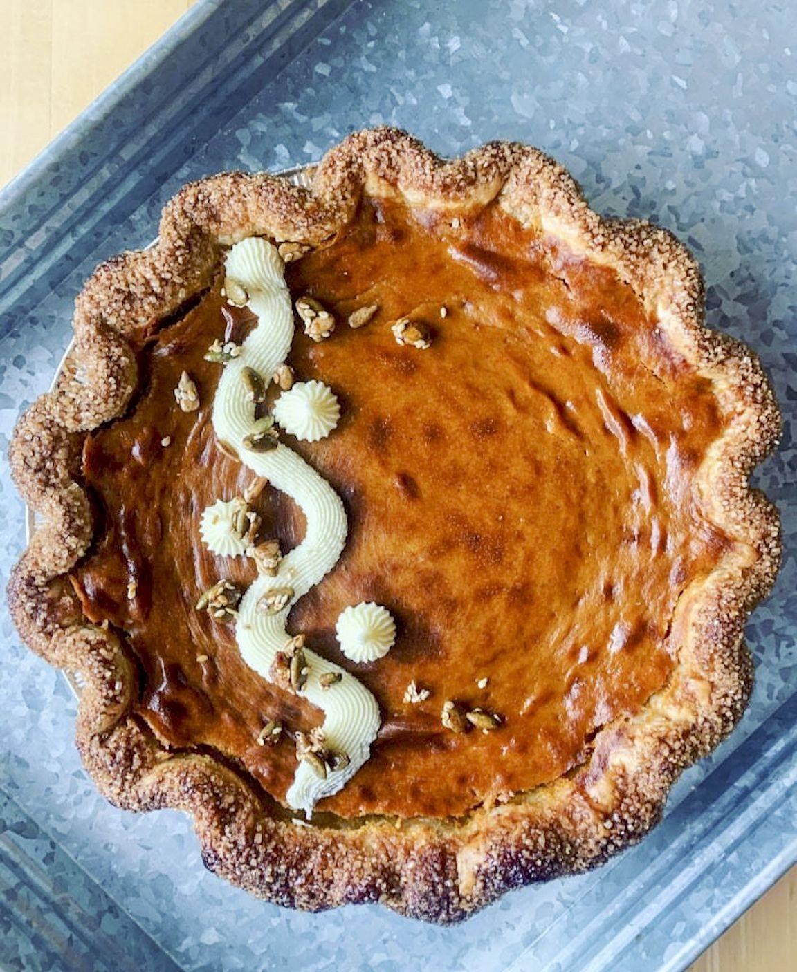 The pumpkin pie from Auspicious Baking Company