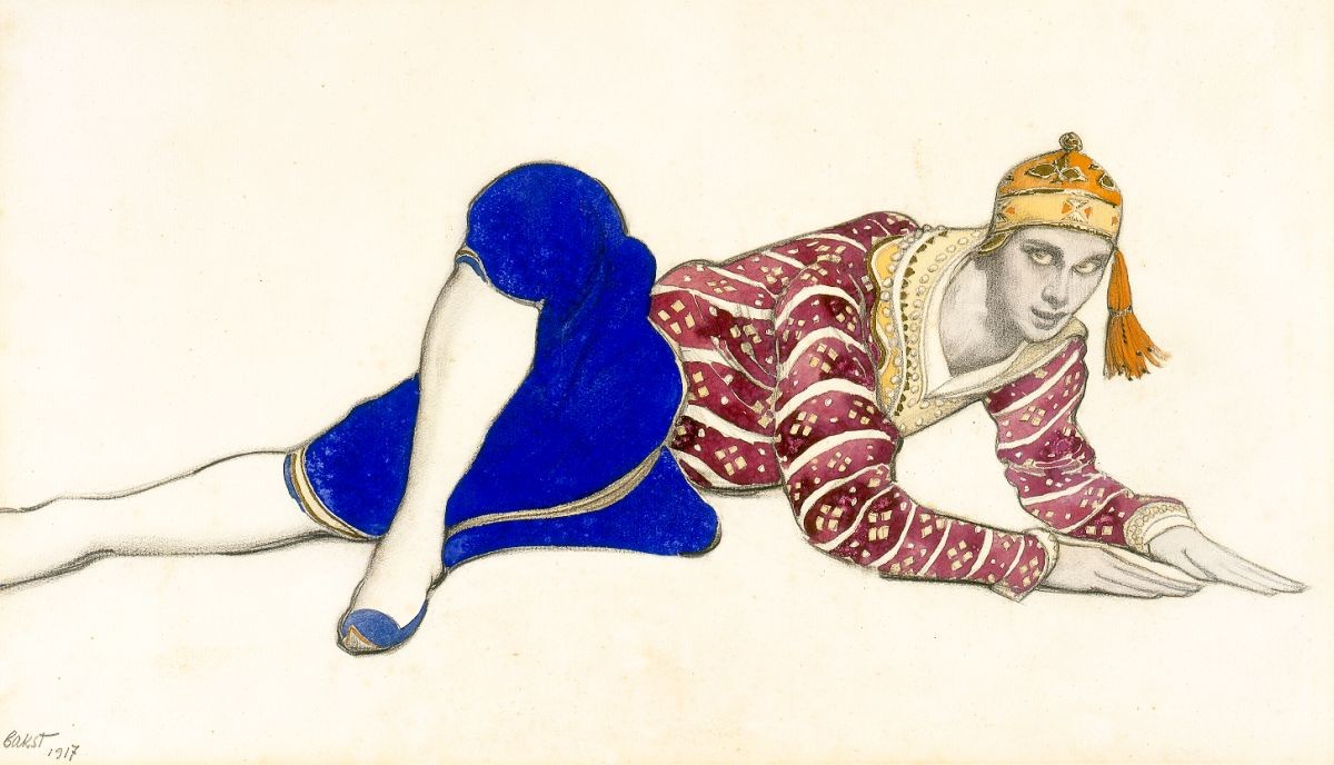 'Vaslav Nijinsky as Chinese Dancer in Les Orientales' by Léon Bakst.