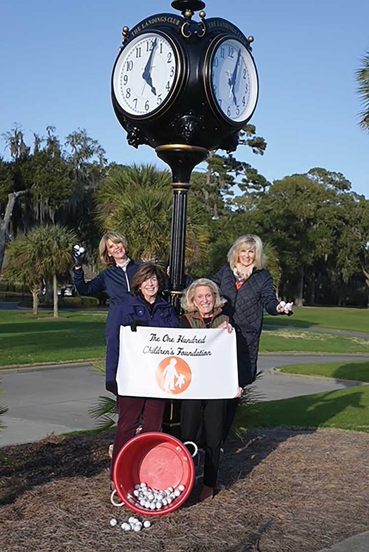 Carri Stoltz, preident. left, Marilyn Sztuk, vice president, Margy Hatch and Kerry Ufford co-chairs of the Great Golf Drop.