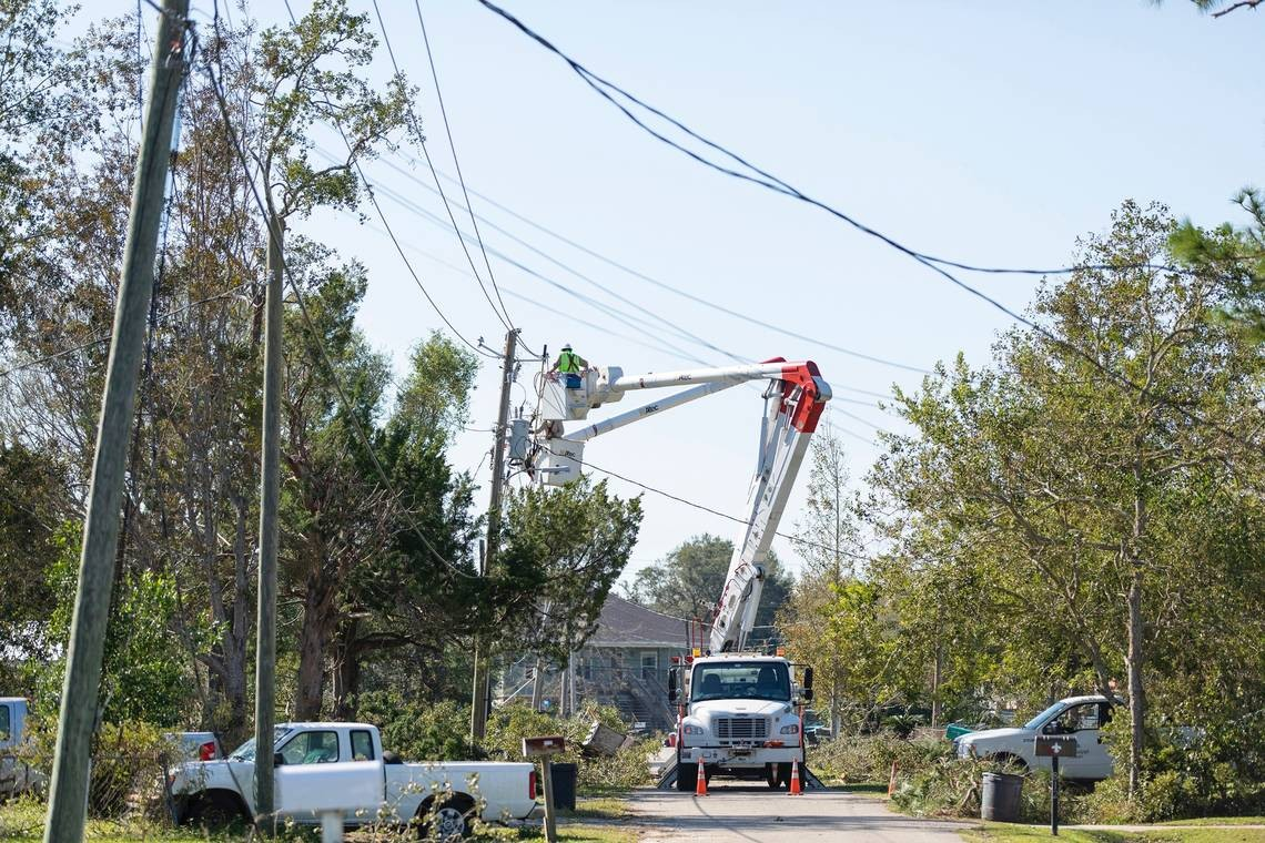 Georgia Power works to fix issues caused by storms in the area during a previous year's Hurricane Season.