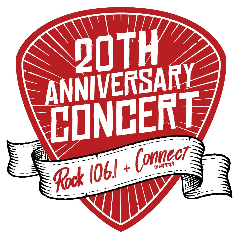 Rock 106.1 and Connect Savannah host the 20th Anniversary Concert July 3 at Trustees' Garden.