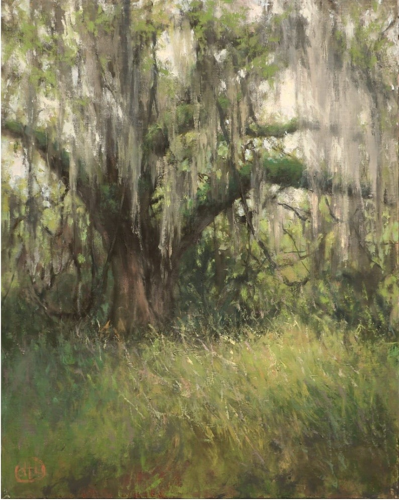 """Dottie Leatherwood, """"A Wild and Wandering Spirit,"""" oil on canvas, 16""""x20"""", 2020."""