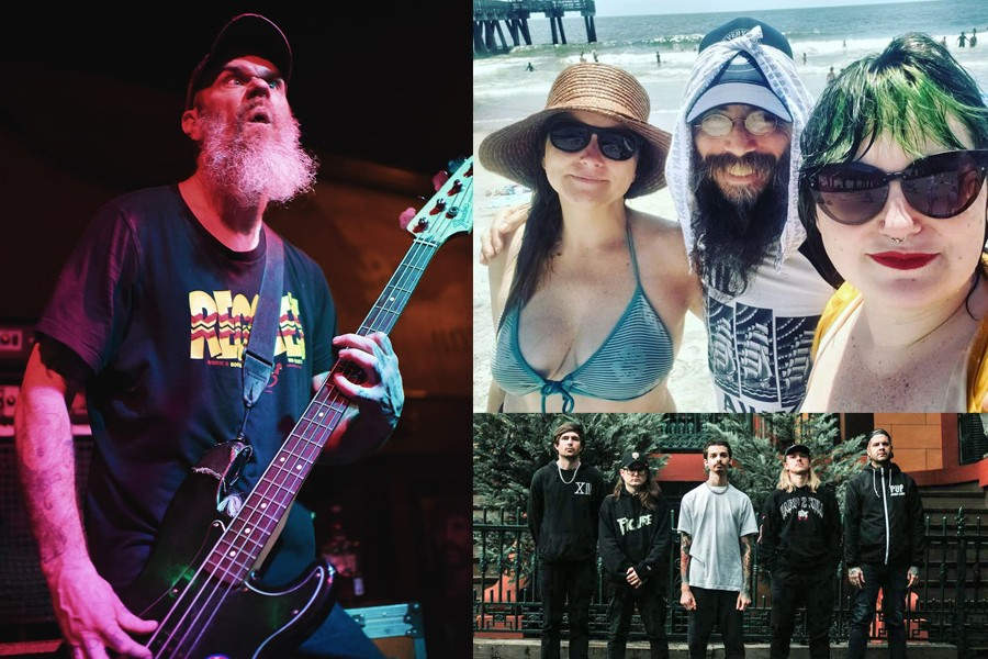 Upcoming AURA Fest headliners, including Dixie Dave Collins and Weedeater left, and SHEHEHE, top right, and Savannah's Depressor, bottom right, prepare to take the stage for upcoming shows as part of the all-underground-rock-all-day event, or Aura Fest 2021-2022.