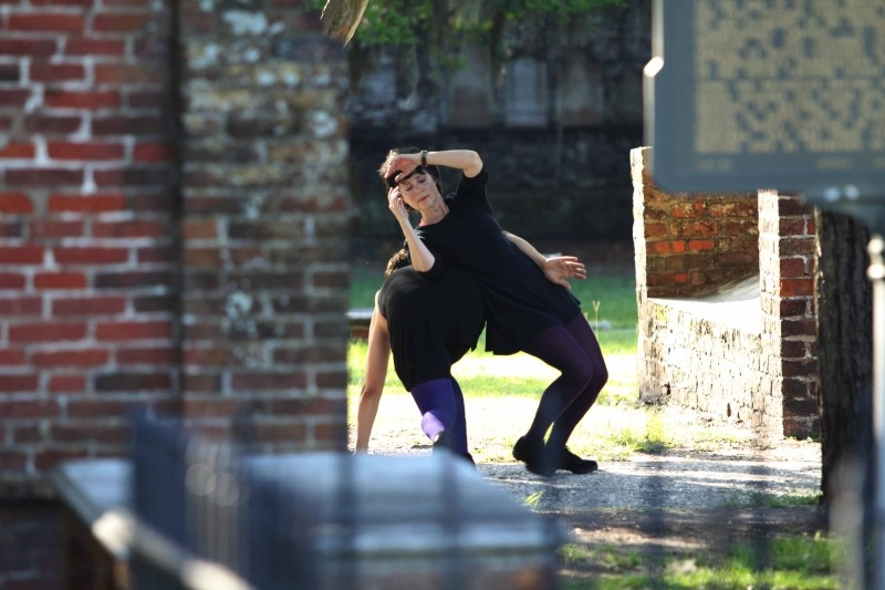 Renowned dance educator Janet Kaylo brings her provocative Savannah Moving Art Projects (SMAP) to public places like Colonial Cemetery, the Bull Street Library and the CAT bus station. - PAUL THOMPSON