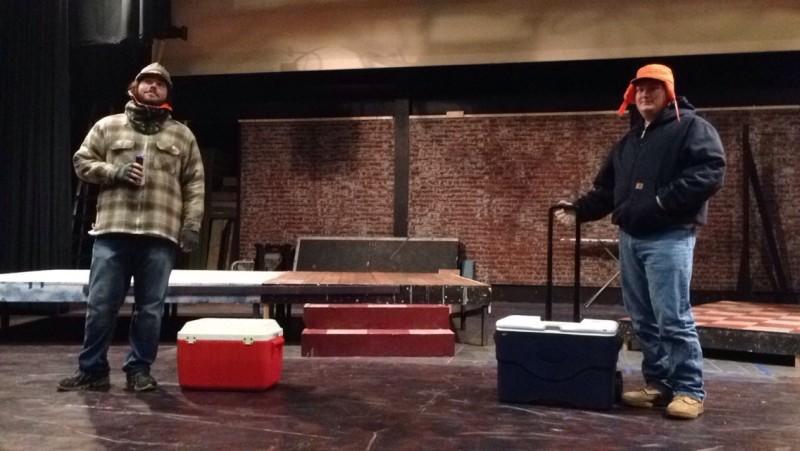 A rehearsal shot.
