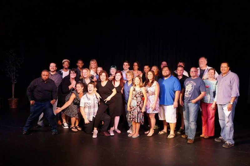 A cast shot from a previous edition of 24 Hour Plays.