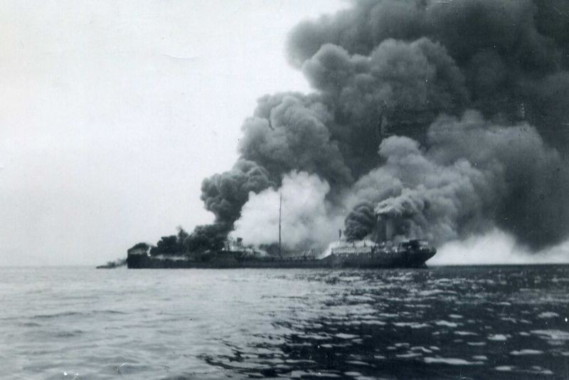 The torpedoing of the SS Oklahoma and Esso Baton Rouge on April 8, 1942 brought the war close to home for coastal Georgia. - PHOTO BY SONJA OLSEN KINARD