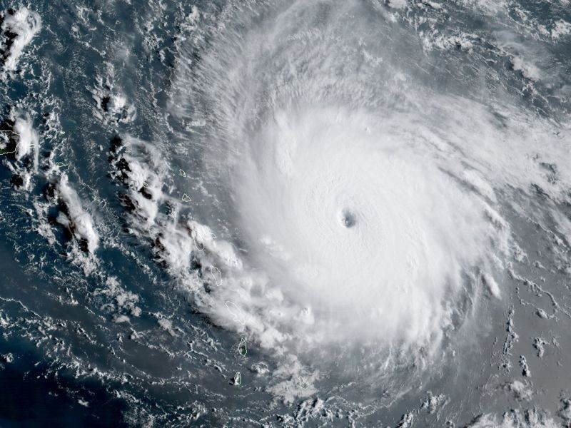 Hurricane Irma as a Category 5 storm - IMAGE COURTESY OF NOAA