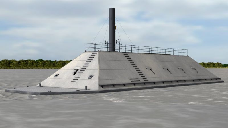 Digital rendering of what the CSS Georgia may have looked like. No confirmed historical images of the ironclad are known to exist. - MIKE HUSSEY