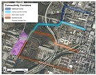 Proposed connectivity corridors between the arena site and downtown.