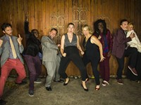 Front Porch Improv prepares to create an entire movie, live on stage