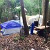 Two arrested at homeless camp