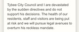 From Tybee Mayor Shirley Sessions' statement on Gov. Kemp's executive order.