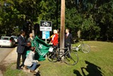 Unveiling a new Bicycle Friendly   Community sign