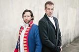 Valjean (Stephen Dobson) and Javert (Jonathan Burgard).