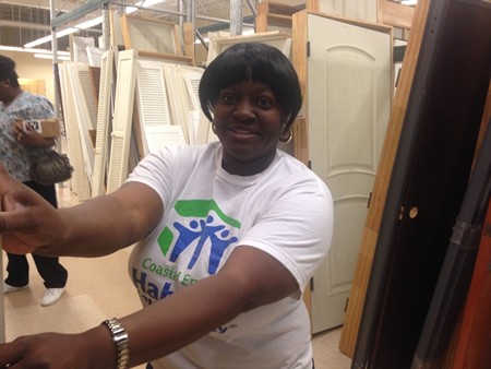 Volunteer Michelle Bostick put 350 hours of sweat equity into her own home.