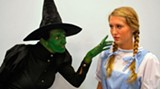 Witchy woman: Kim Trammell as the Wicked Witch, with Glory Padgett as Dorothy (photo: Bill DeYoung)