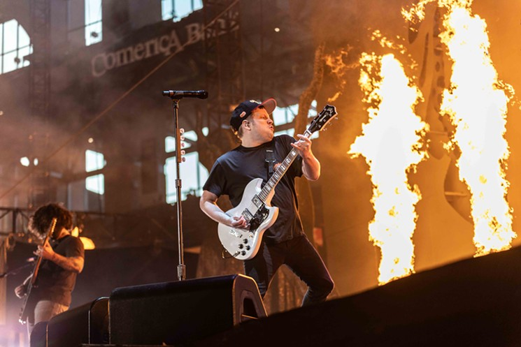 Fallout Boy's Patrick Stump brought more heat to Globe Life Field than the Rangers' pitching roster. - ANDREW SHERMAN