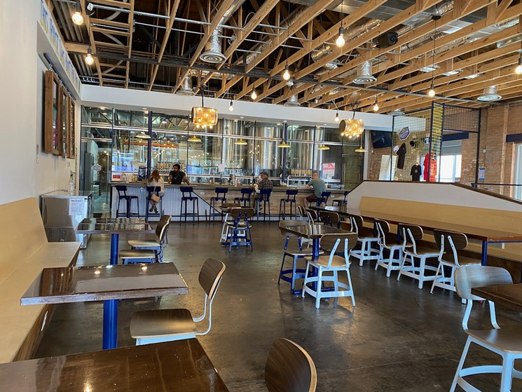 The taproom at Westlake Brewing, along with a large outdoor patio, was designed to be a community affair. - LAUREN DREWES DANIELS