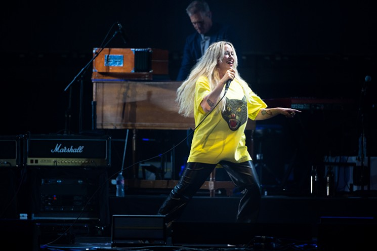 Alanis is blonde now, but still entirely unmistakable. - MIKE BROOKS
