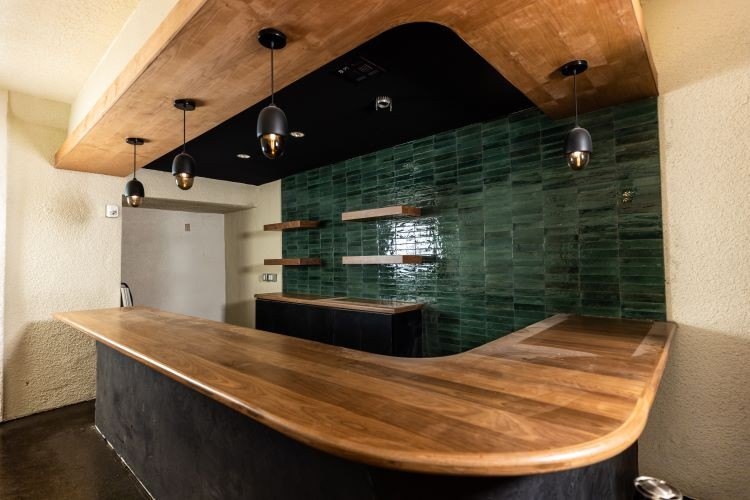 The new second-floor screening room space at the Texas Theatre also has its own bar space for some tasty, intermission refreshments and drinks. - KATHY TRAN