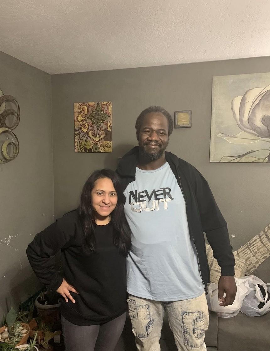 Lewis and his longtime friend Dalila Reynoso - COURTESY DALILA REYNOSO