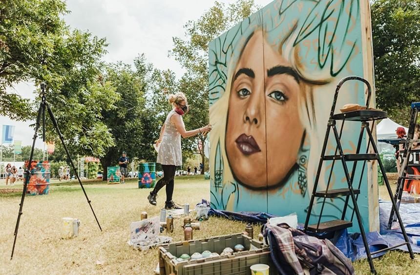 An homage to queen Billie Eilish at Austin City Limits festival. - RACHEL PARKER